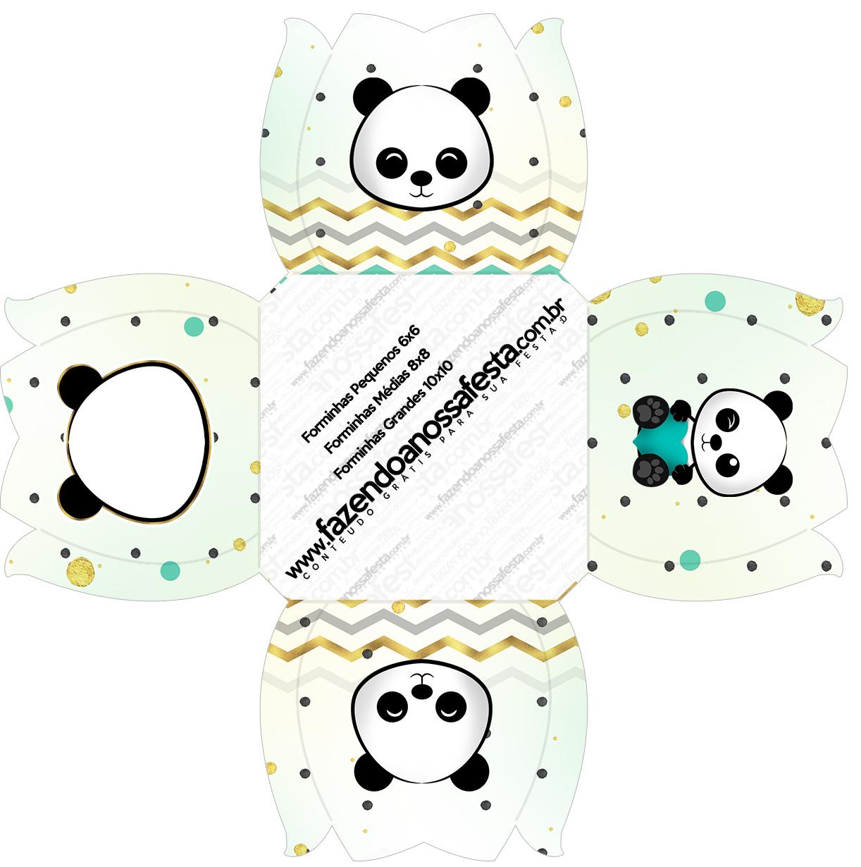 Forminhas Docinhos Panda Menino