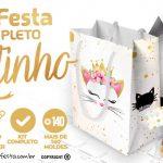 Gatinho Kit Festa Grátis para Baixar Personalizar e Imprimir em Casa