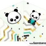 Cone Guloseimas 4 lados Panda Menino