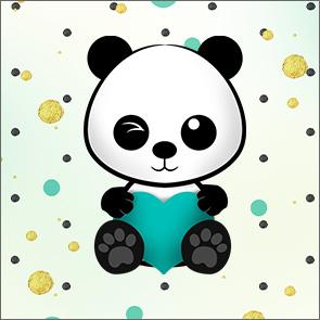 Molde Caixa Acrilico Panda Menino 2