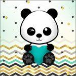 Molde Caixa Acrilico Panda Menino