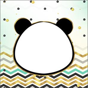 Rotulo Caixa Acrilico Panda Menino kit festa1