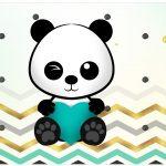 Lata de leite Panda Menino Kit Festa