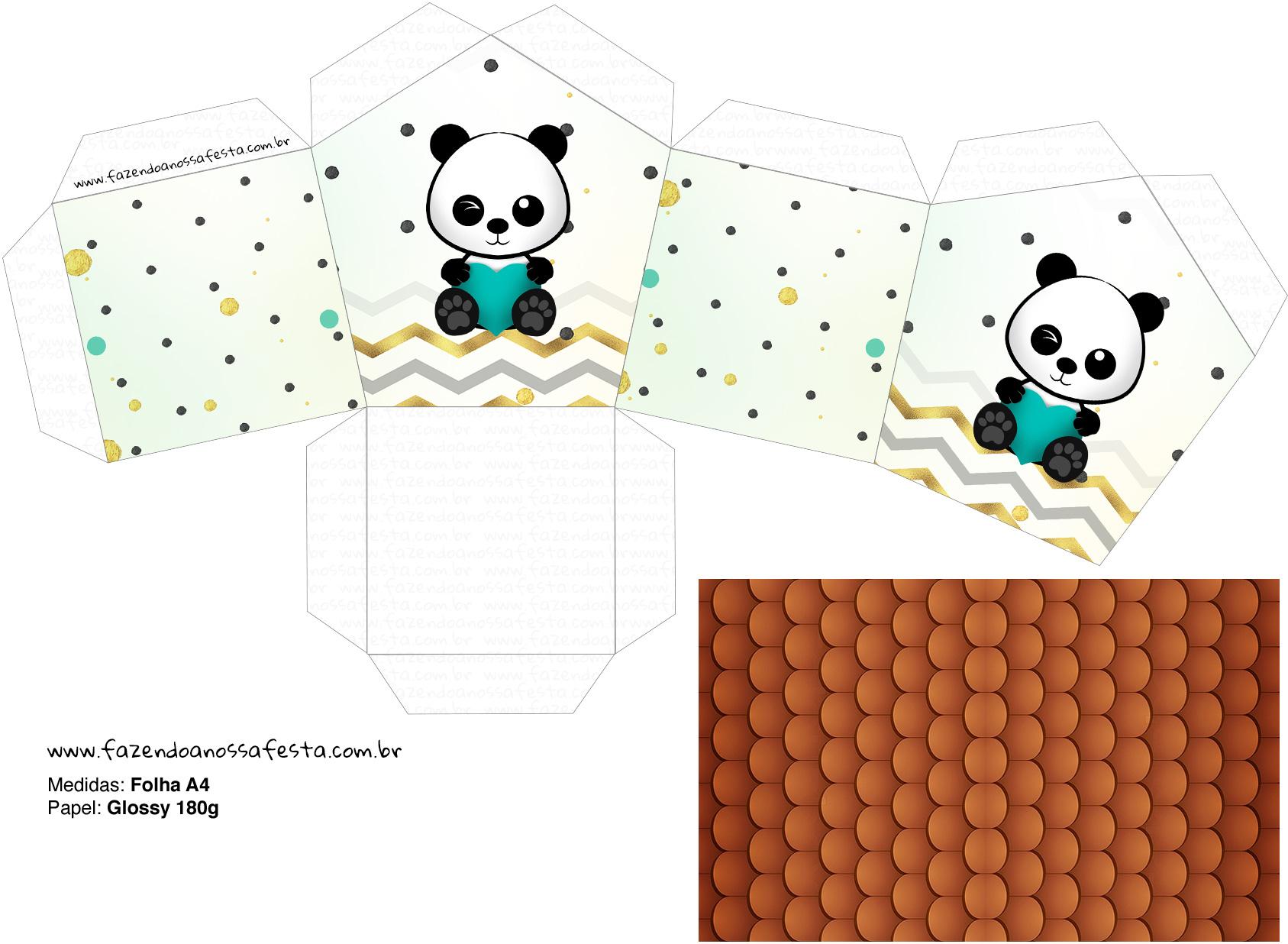 Molde Casinha Panda Menino
