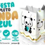 Panda Menino Kit Festa Grátis para Baixar e Imprimir em Casa