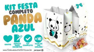 Panda Menino Kit Festa