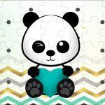Quebra cabeca Panda Menino