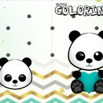 Revista Colorindo Panda Menino kit festa