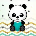Rotulo Bolinha de Sabao Panda Menino Kit Festa