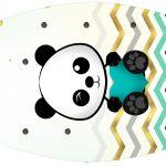 Rotulo Esmalte Panda Menino Kit Festa