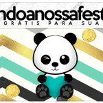 Rotulo Lapis Panda Menino Kit Festa