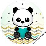 Rotulo Latinhas, Toppers e tubete Panda Menino