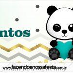 Rotulo Mentos Panda Menino