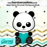 Rotulo Mini Baton Garoto Panda Menino
