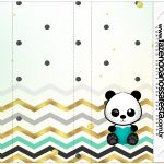 Rotulo Nescau Panda Menino kit festa