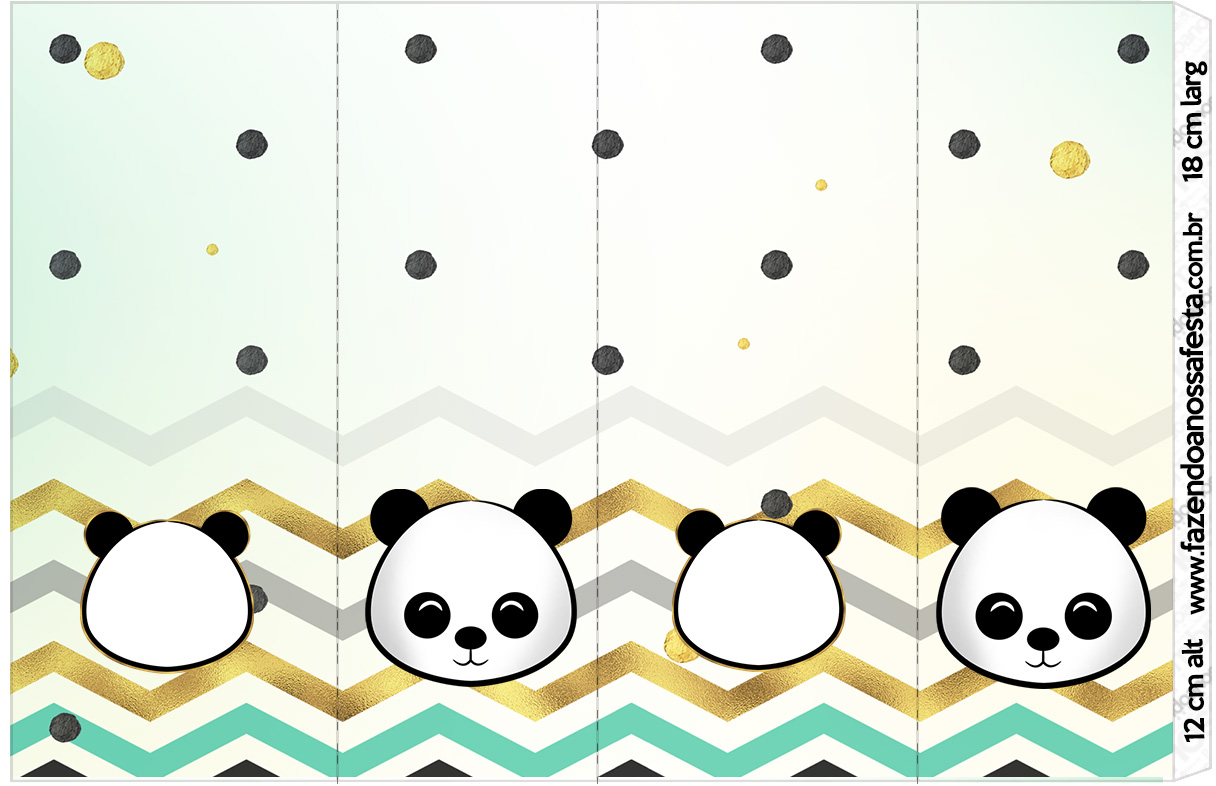 Rotulo Nescauzinho Panda Menino