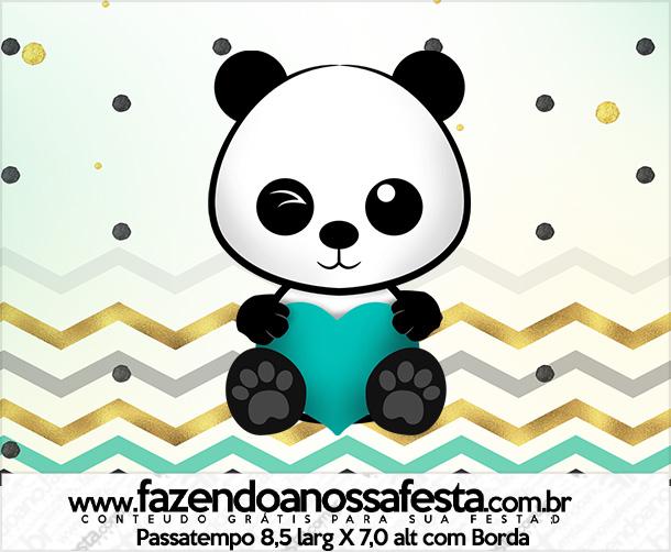 Rotulo Passatempo Panda Menino