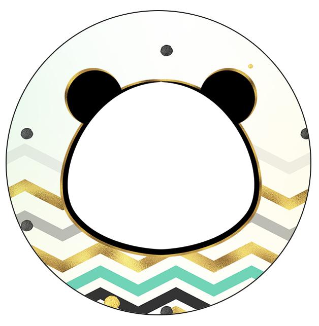 Rotulo Personalizado para latinha e toppers Panda Menino