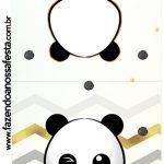 Rotulo Pirulito Panda Menino