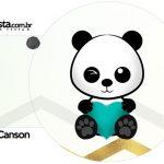 Rotulo Porta Guardanapos Panda Menino
