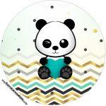 Rotulo Tubete 2 Panda Menino