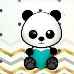 Rotulo Tubetes Panda Menino
