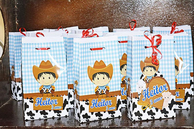 Sacolinha Surpresa Festa Infantil Fazendinha do Heitor