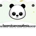 Saias Wrappers para Cupcakes 2 Panda Menino