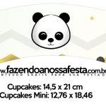 Saias Wrappers para Cupcakes Panda Menino