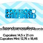 Saias Wrappers para Cupcakes Poderoso Chefinho Kit Festa