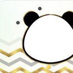 Tag Agradecimento Etiqueta Panda Menino kit festa