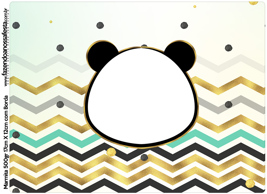 Tampa Marmitinha 500g Panda Menino