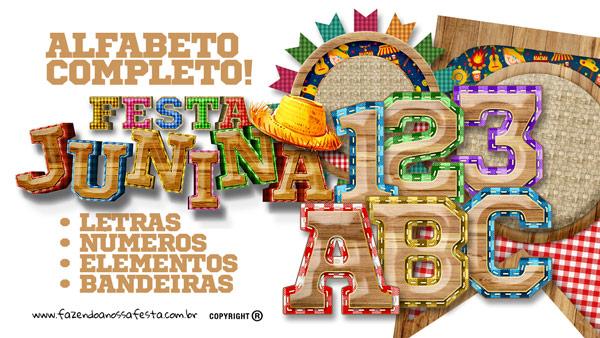 Alfabeto Festa Junina