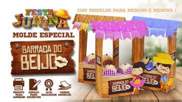 Caixa Barraca do Beijo para Festa Junina