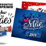 Cartão Bis e Prestígio para Dia das Mães Grátis para Download