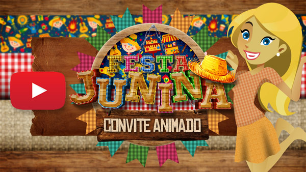 Convite Animado Festa Junina