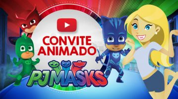 Convite Animado Virtual PJ Masks