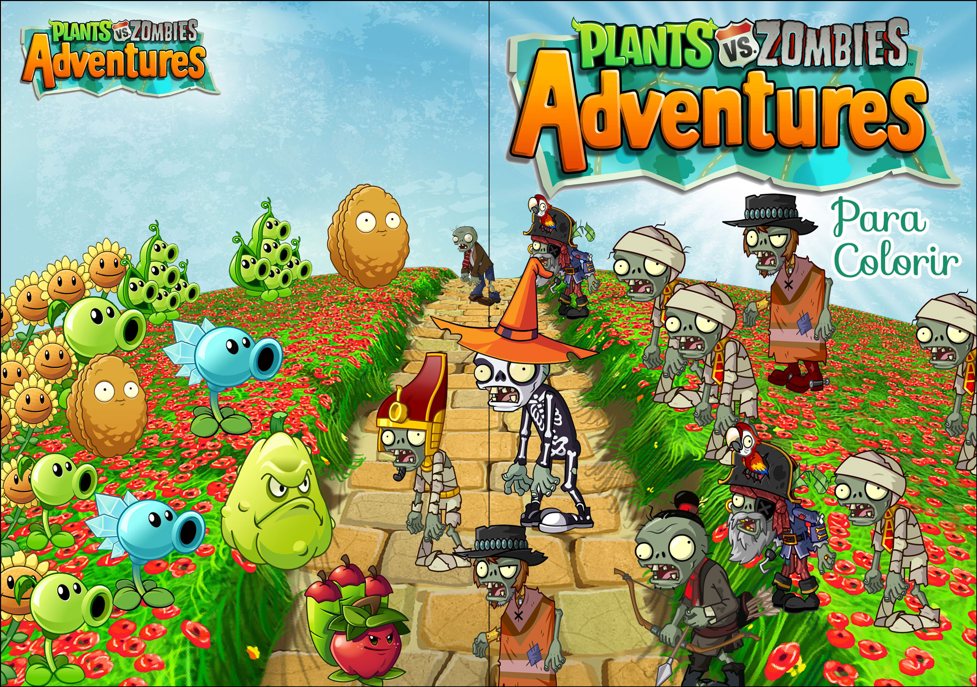 Livrinho para Colorir Plants vs Zombies 0