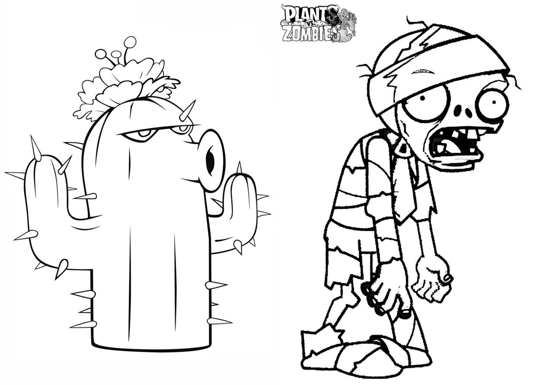 Revista para Colorir Plants vs Zombies 3