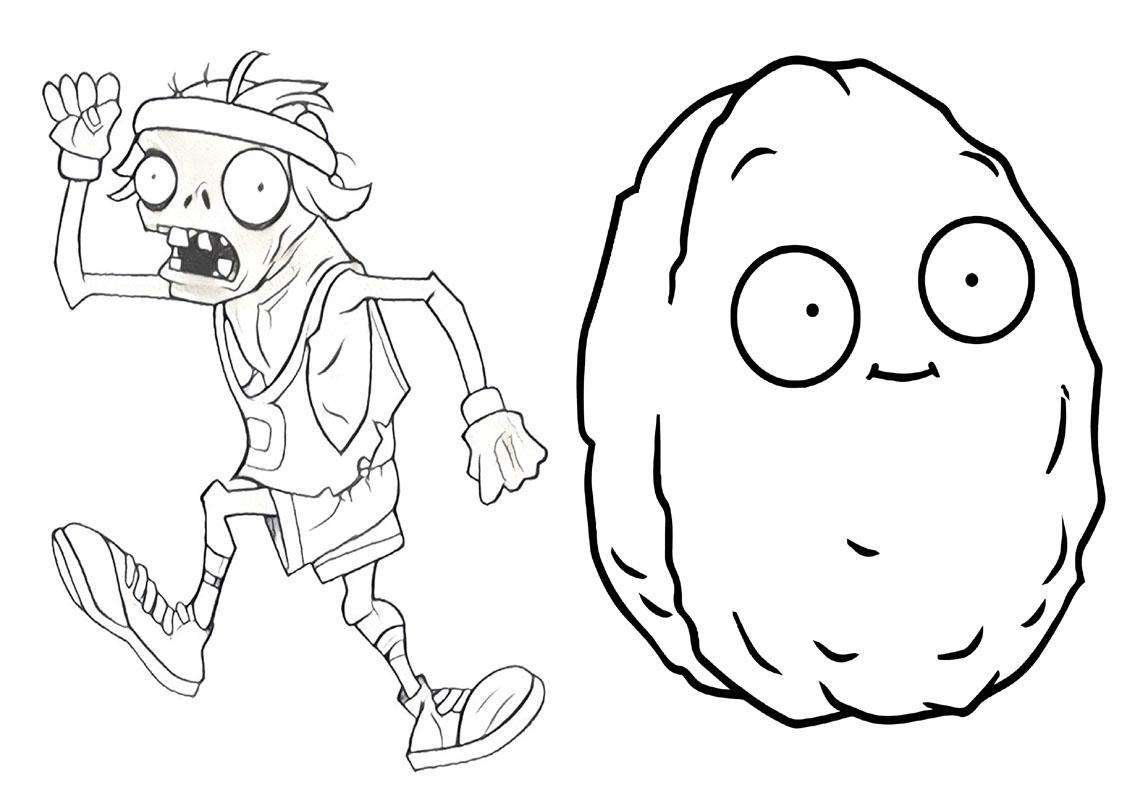 Livrinho para Colorir Plants vs Zombies 5