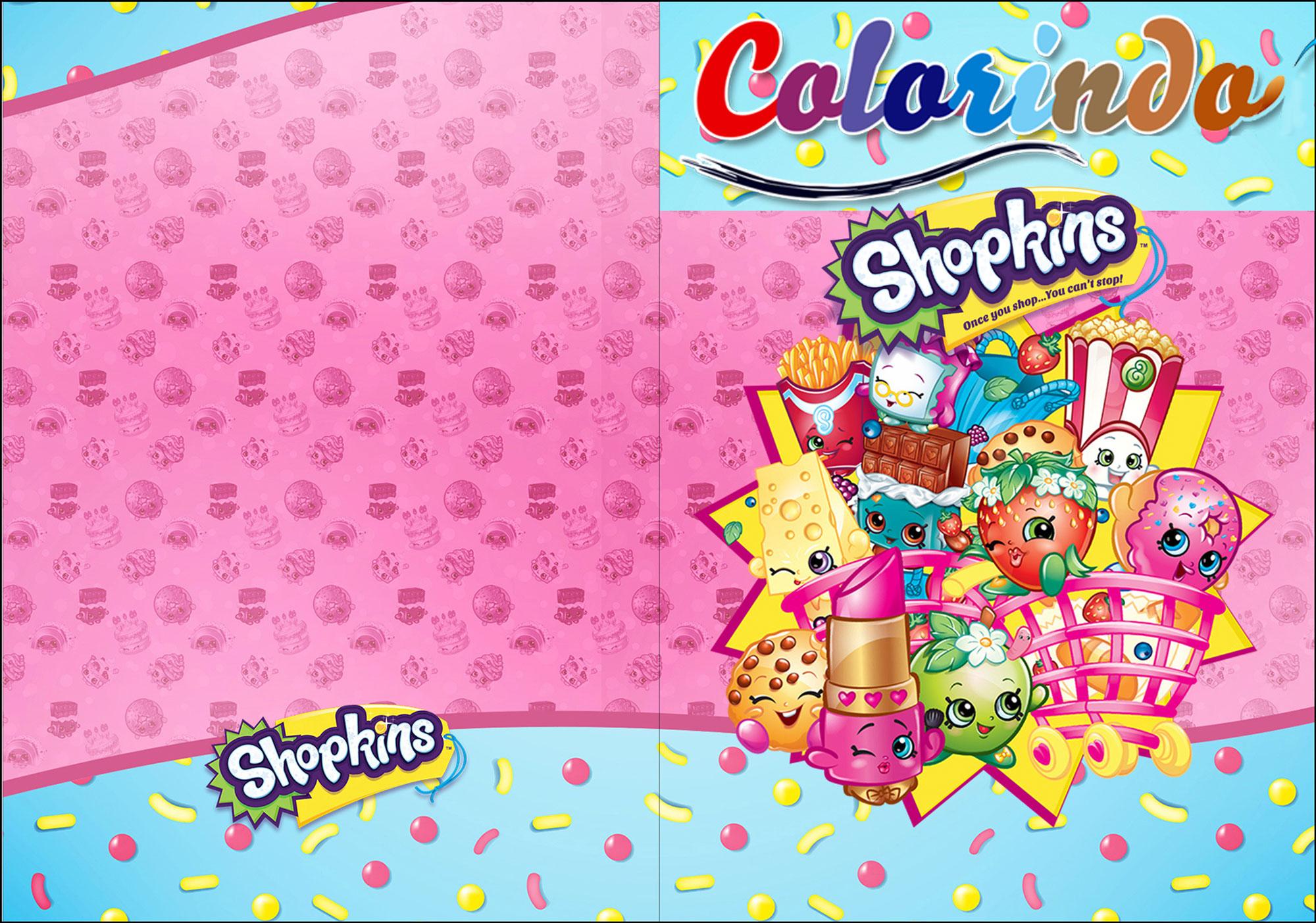 livrinho para colorir shopkins 0 fazendo a nossa festa