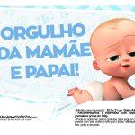 Plaquinhas Poderoso Chefinho para Chá de bebê 10
