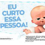Plaquinhas Poderoso Chefinho para Chá de bebê 18
