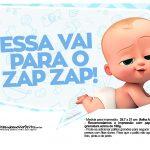 Plaquinhas Cha de bebe Poderoso Chefinho 20
