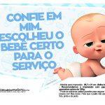 Plaquinhas Cha de bebe Poderoso Chefinho 24