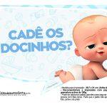Plaquinhas Cha de bebe Poderoso Chefinho 28