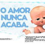 Plaquinhas Poderoso Chefinho para Cha de bebe 2