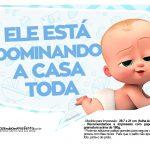 Plaquinhas Poderoso Chefinho para Cha de bebe 7