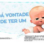 Plaquinhas divertidas Cha de bebe Poderoso Chefinho 13