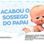 Plaquinhas divertidas Cha de bebe Poderoso Chefinho 14